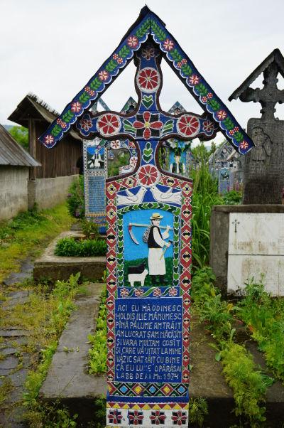 Veselý cintorín v Săpânțe - Väčšina obyvateľov žije (žila) životom obyčajných sedliakov
