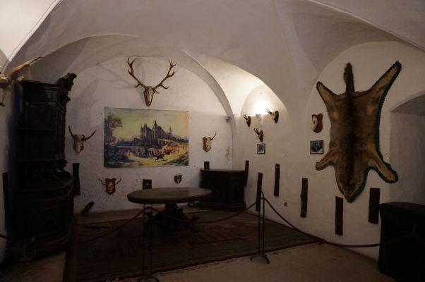Lovecké trofeje na Korvínovom hrade v Hunedoare