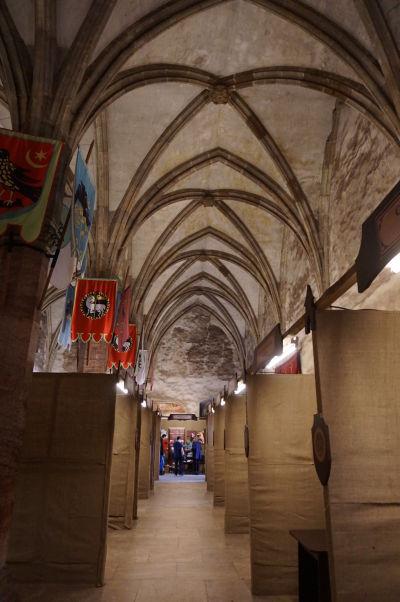Sieň rytierov - reprezentačná miestnosť na Korvínovom hrade v Hunedoare