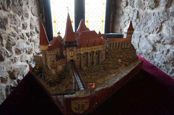 Model Korvínovho hradu v Hunedoare