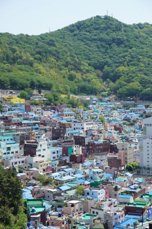 Pohľad na druhú stranu Gamcheonu