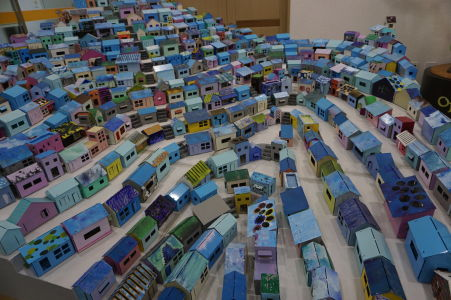 Model dedinky Gamcheon v múzeu