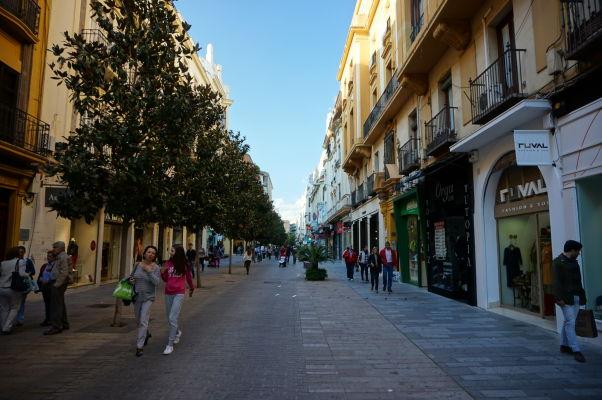 Nákupná pešia ulica Calle José Cruz Conde v Córdobe