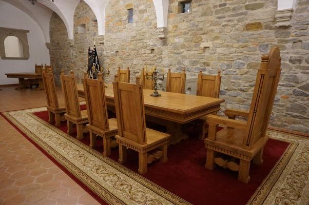 Rekonštrukcia stolovania v pevnosti vo Fagaraši