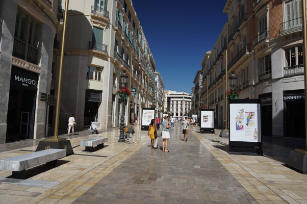 Hlavná pešia zóna Calle Marqués de Larios v Málage