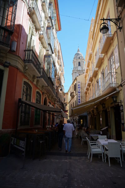 Ulička Calle Moreno Monroy v Málage