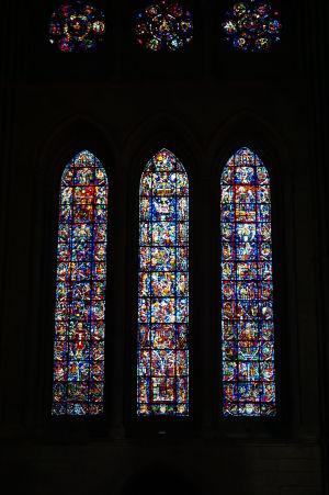 Vitrážové okná katedrály Notre-Dame v Reims