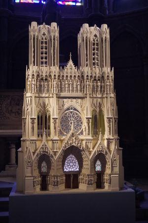 Maketa katedrály Notre-Dame v Reims