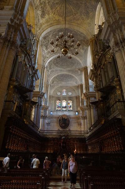 Chór katedrály v Málage