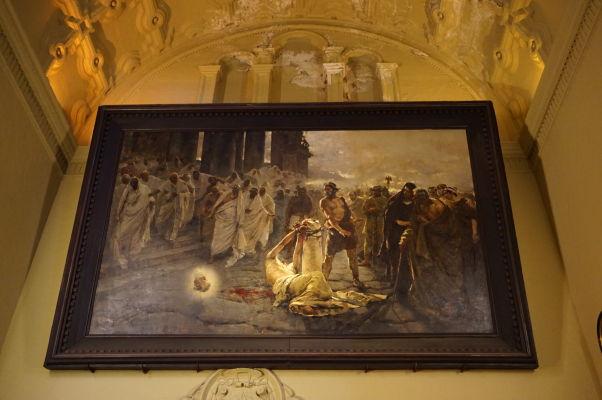 """Obraz """"Sťatie sv. Pavla"""" od Enrique Simoneta z roku 1887 v katedrále v Málage"""