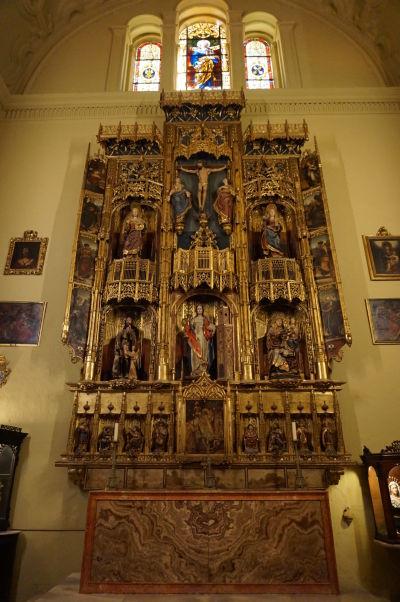 Katedrála v Málage - Kaplnka sv. Barbory a najvzácnejší oltár v celom chráme, majstrovské dielo flámskeho umelca Nicolasa Tillera zo 16. storočia