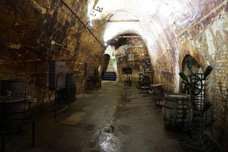 Podzemné chodby v Reims pre skladovanie šampanského