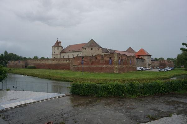 Pevnosť vo Fagaraši obklopená vodnou priekopou