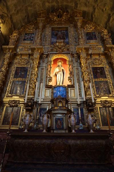 Katedrála v Málage - Kaplnka sv. Srdca so vzácnym barokovým oltárom z 18. storočia a kastílskej školy