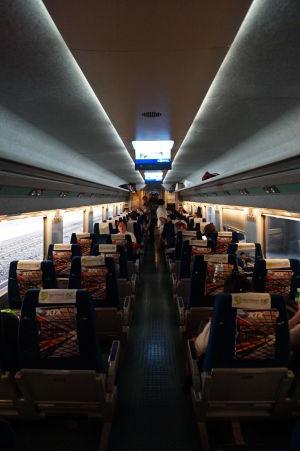 Interiér vlaku KTX
