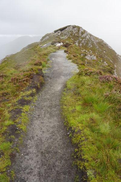 Na vrchole Diamantovej hory (Diamond Hill) v národnom parku Connemara National Park v Írsku