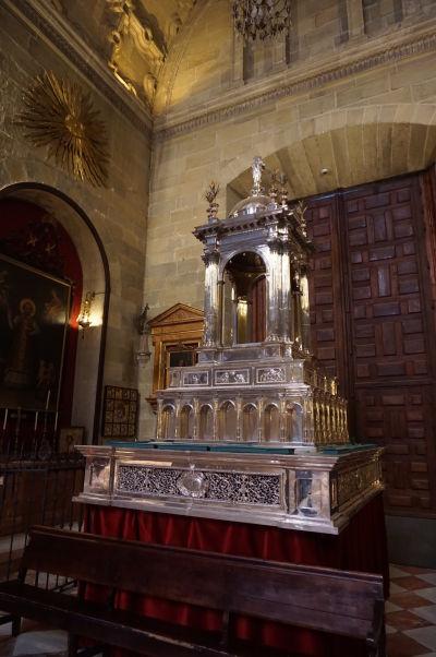 Strieborný relikviár v katedrále v Málage