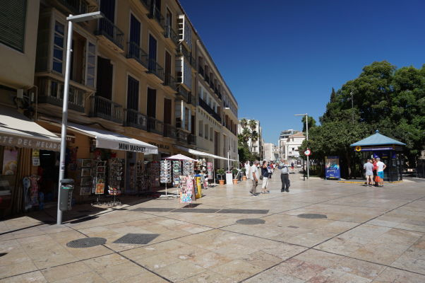 Ulica Calle Alcazabilla pred rímskym divadlom v Málage