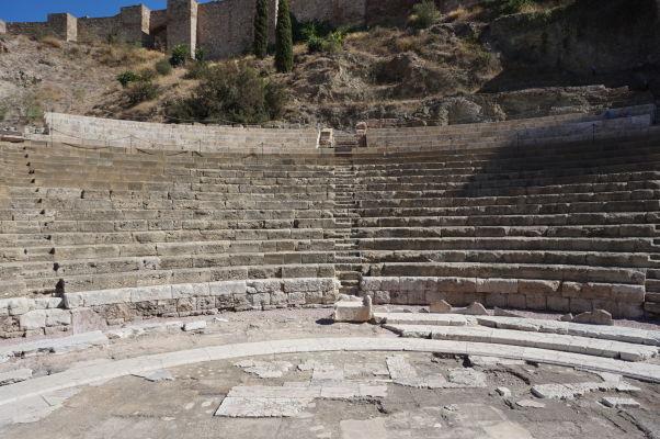 Cavea rímskeho divadla v Málage