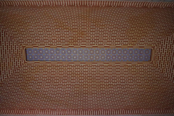 Jeden zo stropov v palácovej časti pevnosti Alcazaba v Málage
