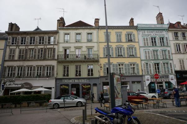 Budovy na námestí Place Audiffred v Troyes