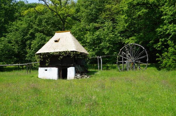 Vodný mlyn v skanzene v Sibiu