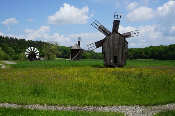 Veterné mlyny v skanzene v Sibiu