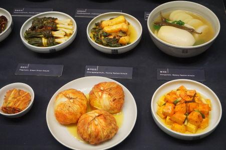 Tradičné kórejské pokrmy i s vysvetlivkami (etnografické múzeum)