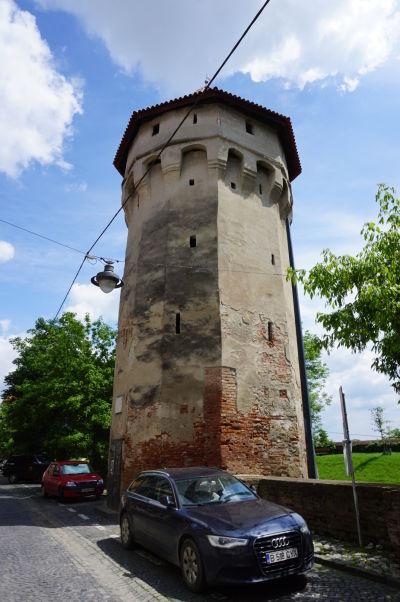 Veža kavalérií (Turnul Archebuzierilor) v opevnení v Sibiu