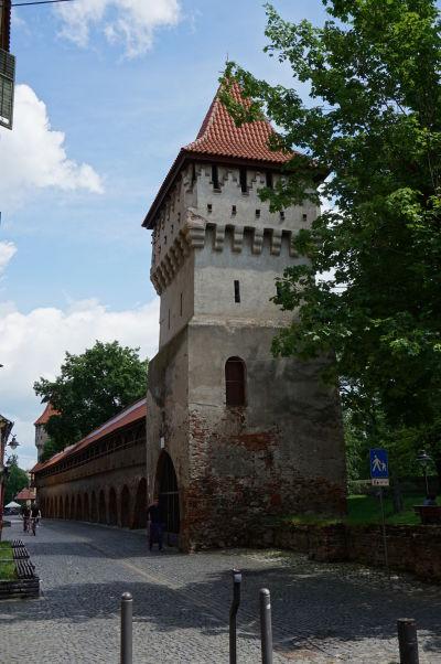 Veža hrnčiarov (Turnul Olarilor) v opevnení v Sibiu