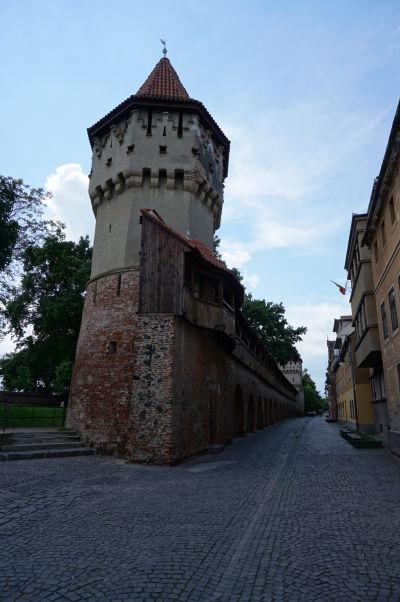 Veža tesárov (Turnul Dulgherilor) v opevnení v Sibiu