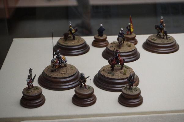 Minifigúrky vojakov v múzeu na hrade Gibralfaro v Málage