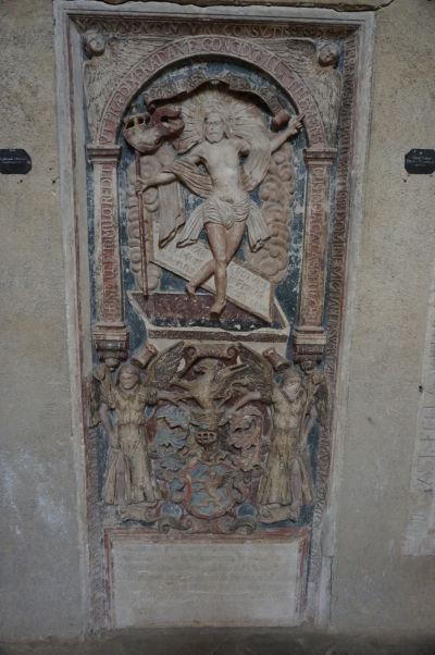 Jeden z náhrobkov v Evanjelickej katedrále sv. Márie v Sibiu