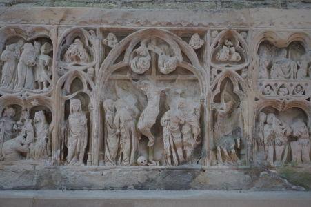 Reliéf vyobrazujúci výjavy zo života Krista