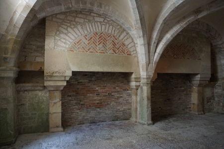 Miestnosť, ktorá slúžila pre vykurovanie miestnosti, kde mnísi pracovali na prepisoch kníh