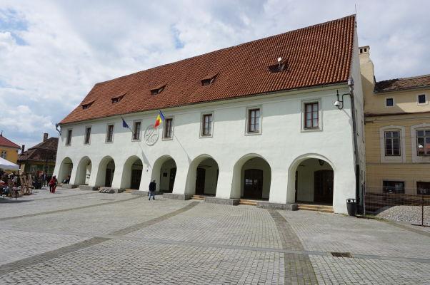 Malé námestie v Sibiu - budova bývalého bitúnku zo 14. storočia, dnes múzeum
