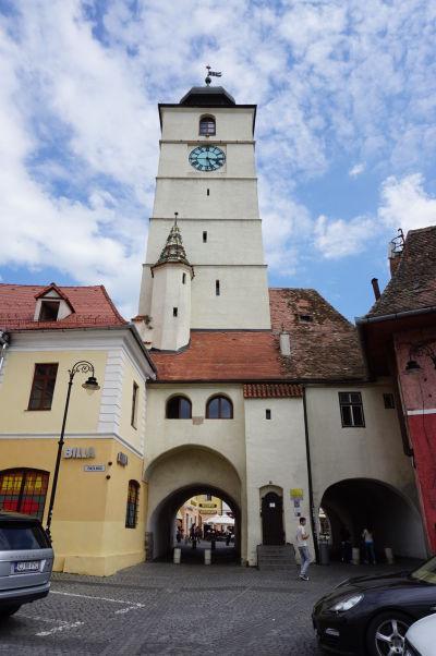 Malé námestie v Sibiu - Radničná veža