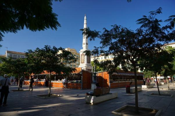 Námestie Plaza de la Merced v Málage, kde stojí rodný dom Pabla Picassa