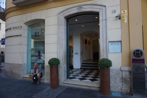 Vstup do rodného domu Pabla Picassa v Málage