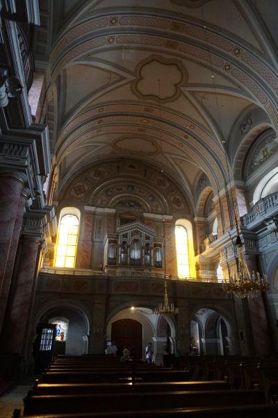 Organ v Kostole sv. Trojice v Sibiu - jezuitskom chráme z 18. storočia