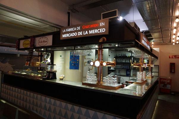 Bar na tržnici Merced v Málage