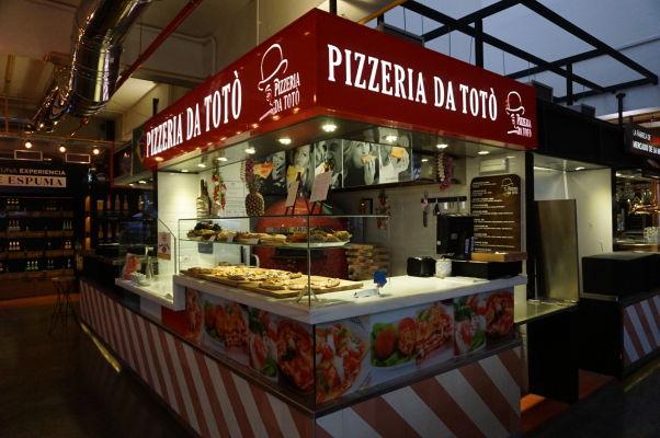 Pizzeria na tržnici Merced v Málage