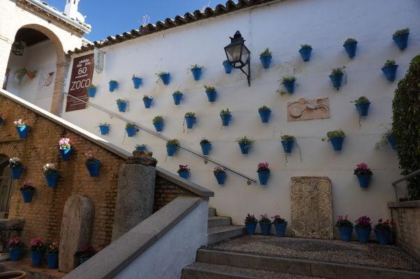 Jedno z mnohých nádvorí v domoch Córdoby - Nádvoria sú obľúbené miesta pre stretávanie sa, trhy alebo reštaurácie