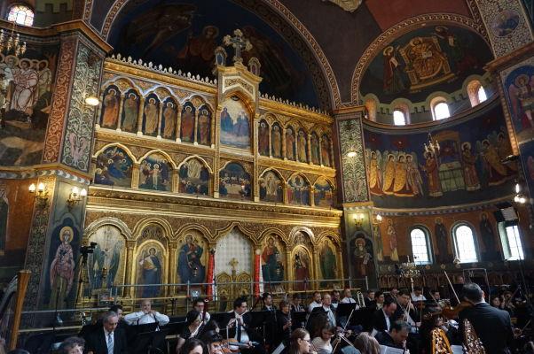 Ortodoxná katedrála sv. Trojice v Sibiu - zlatý ikonostas