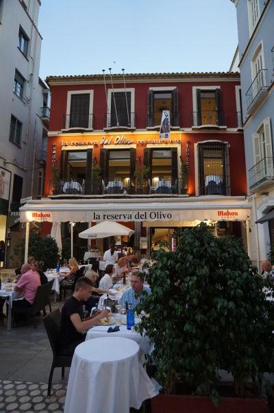 Reštaurácia na ulici Calle Granada v Málage