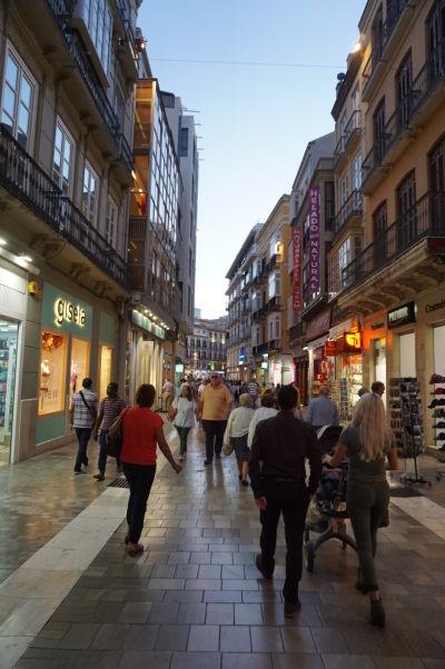 Ulica Calle Granada v Málage