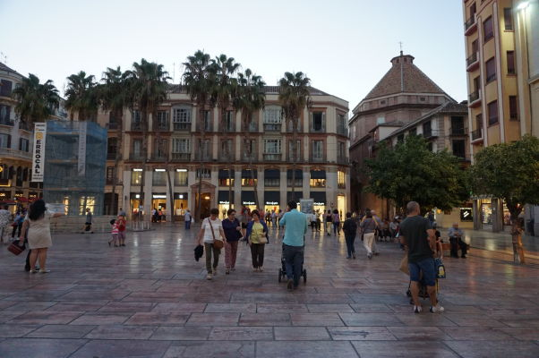 Námestie Plaza de la Constitución v Málage