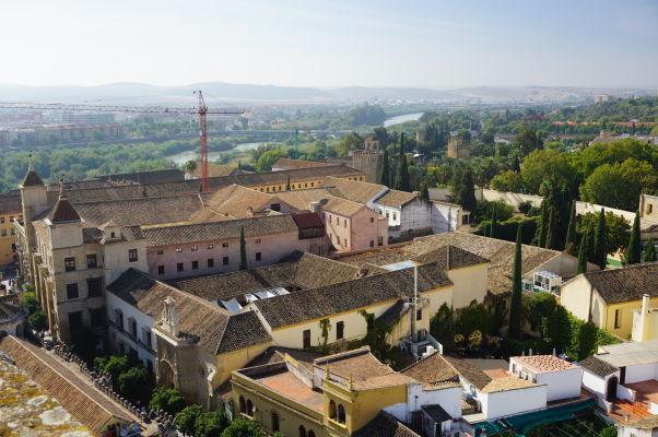 Výhľad na Córdobu z veže Mezquity (bývalého minaretu)