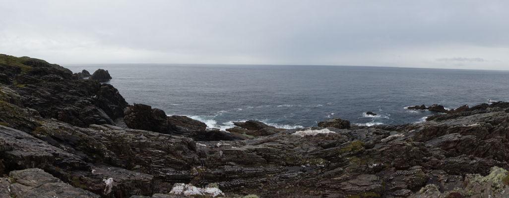 Drsné pobrežie na Malin Head na severe Írska
