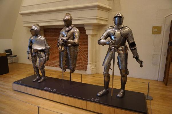Stredoveké brnenia v Múzeu výtvarných umení v Dijone